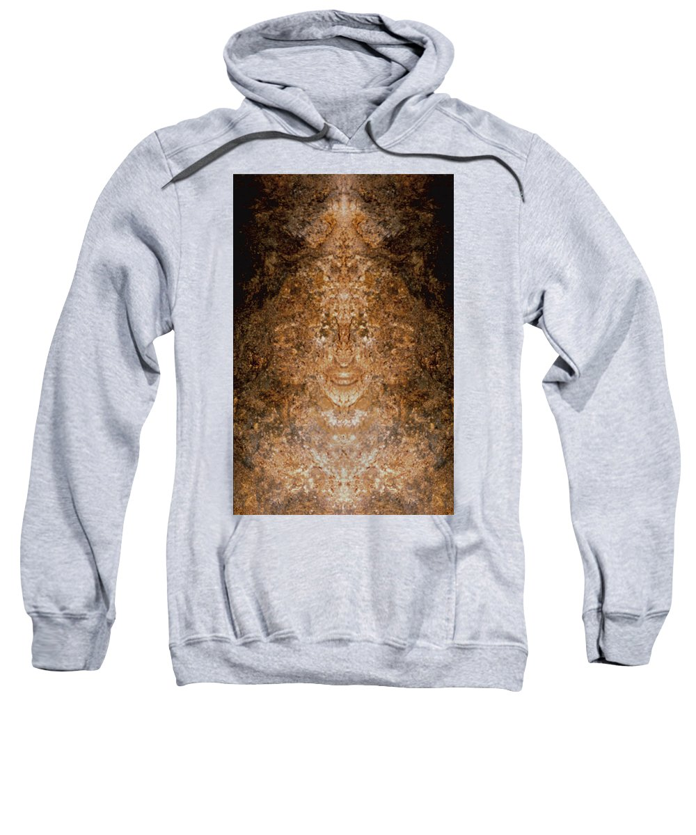 Rocks Sweatshirt featuring the photograph Sunqueen Of Woodstock by Nancy Griswold