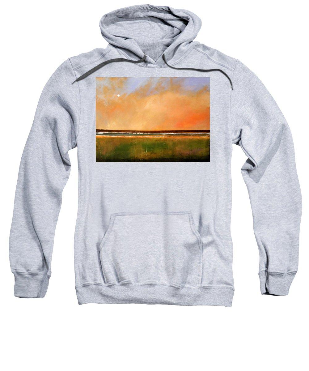 Sunrise Sweatshirt featuring the painting Sunrise Beach by Toni Grote