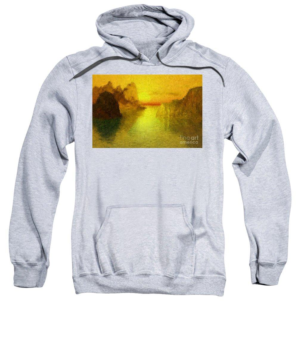 Nature Sweatshirt featuring the digital art Sunrise by David Lane