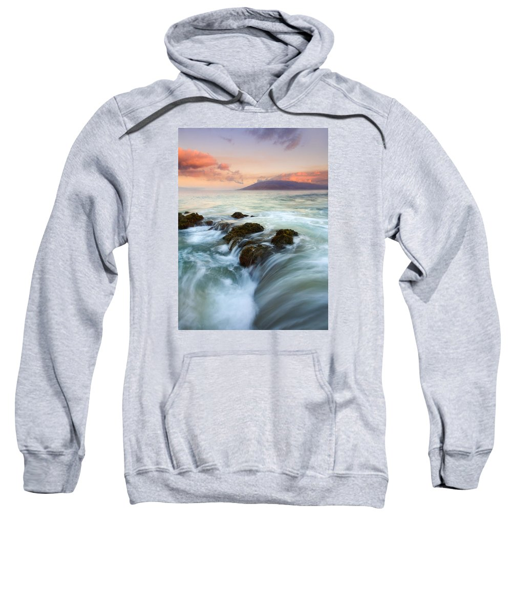 Sunrise Sweatshirt featuring the photograph Sunrise Drain by Mike Dawson