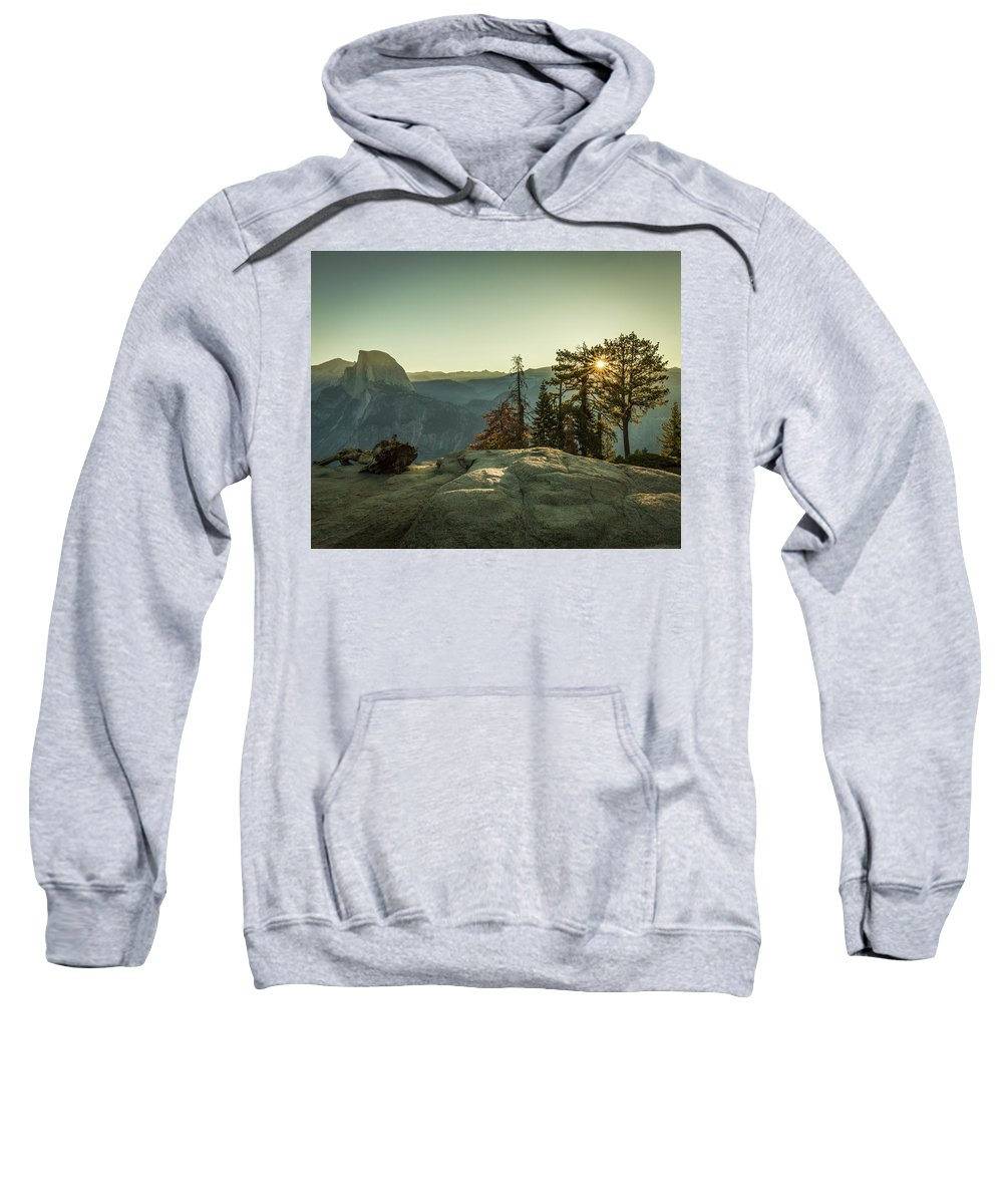 Sunrise Sweatshirt featuring the photograph Sunrise Glacier Point by Gary Snell