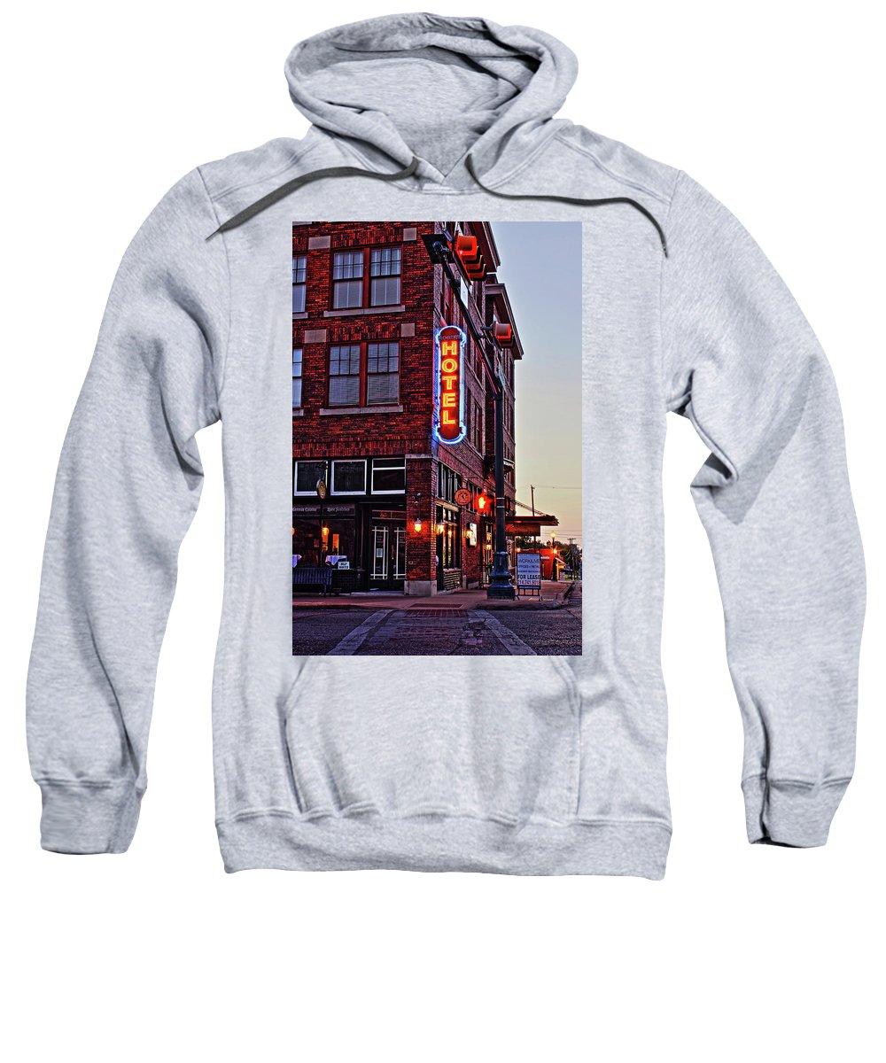 Hotel Sweatshirt featuring the photograph Sunrise Hotel by Daniel Koglin