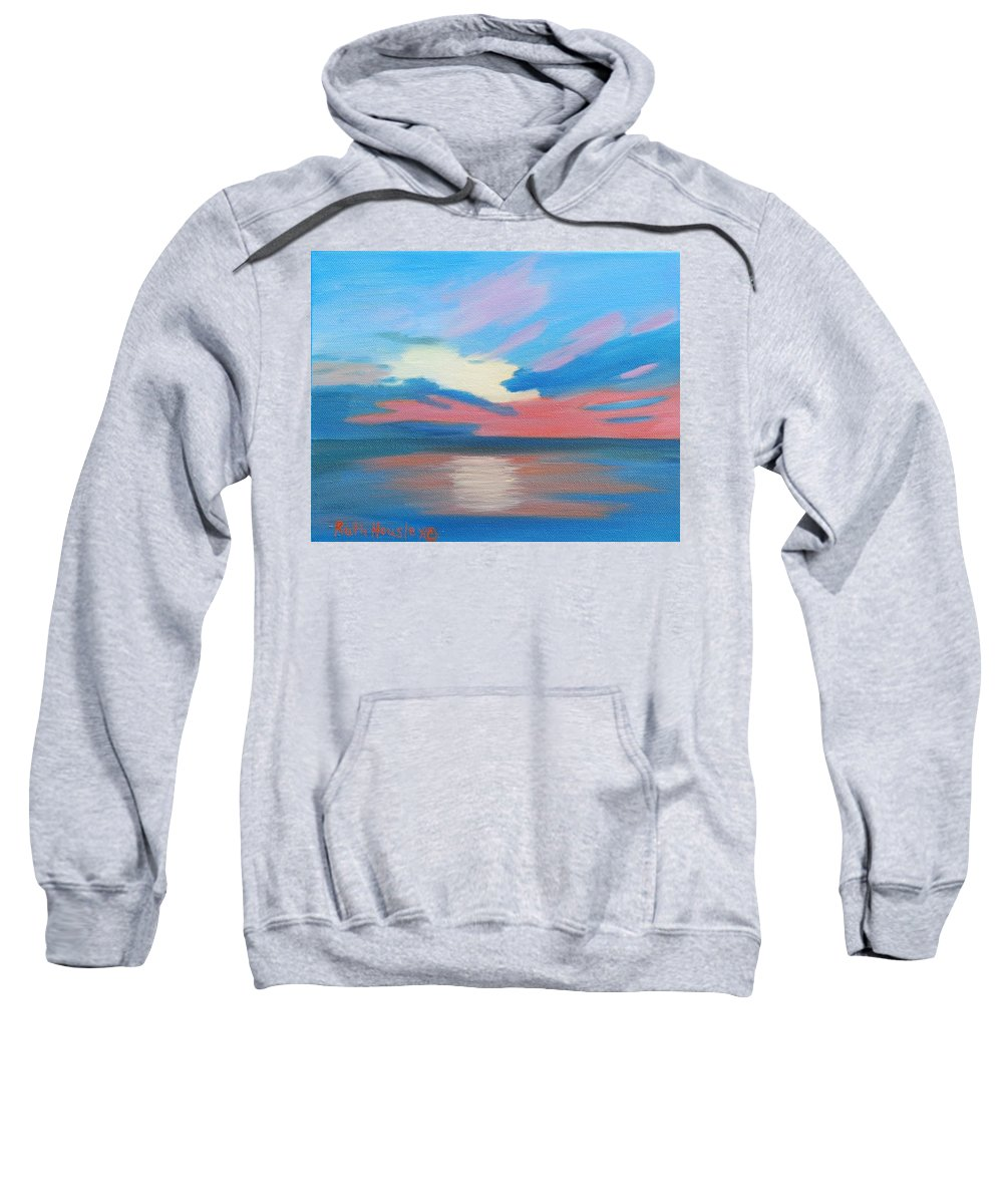 Fine Art Sweatshirt featuring the painting Sunrise Over Ocean City Maryland by Ruth Housley