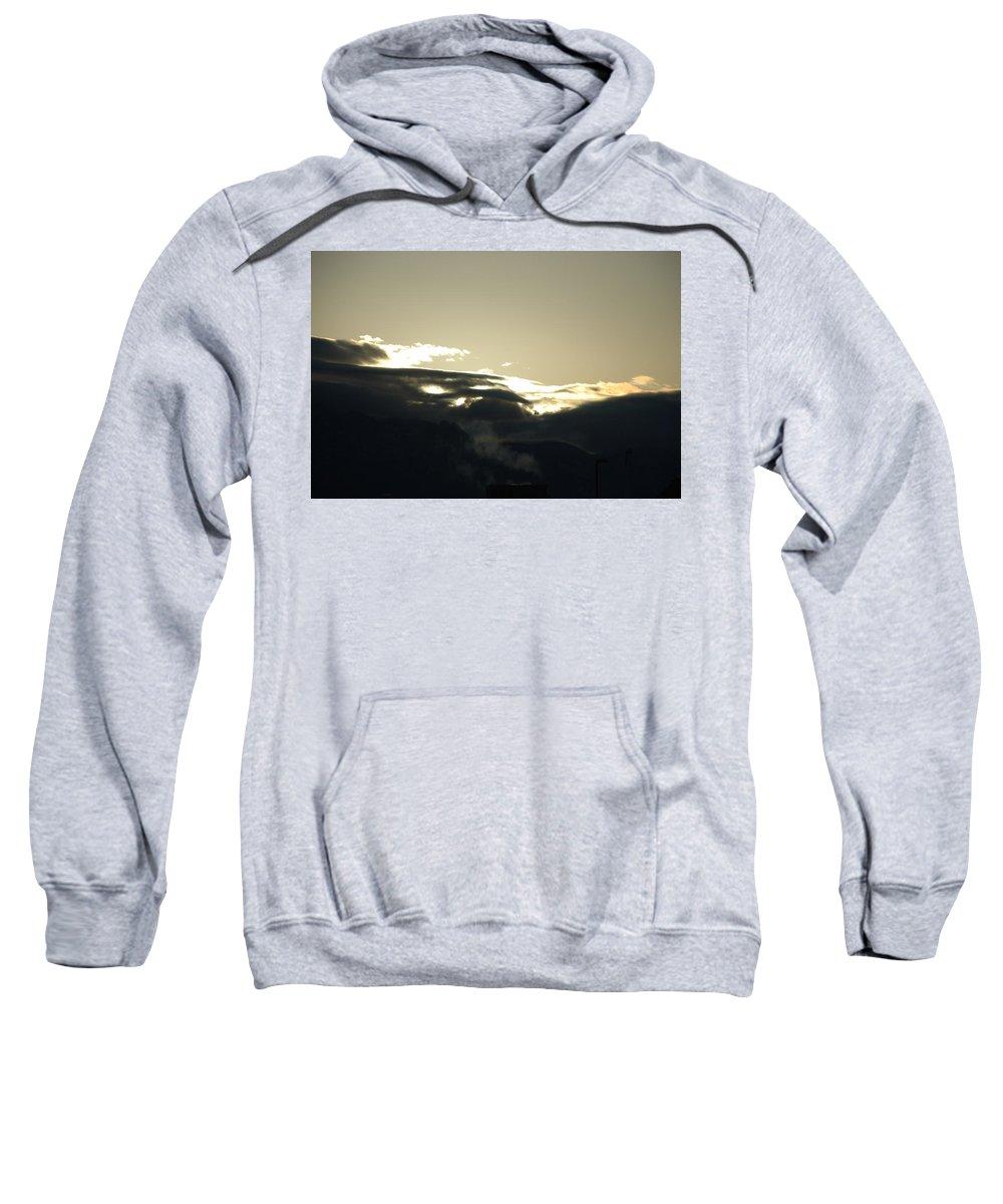 Sunrise Sweatshirt featuring the photograph Sunrise Over The Sandias by Rob Hans
