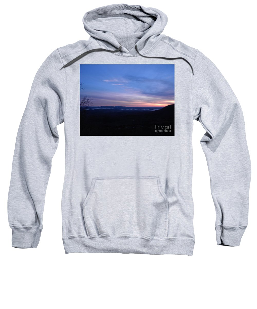 Sunrise Sweatshirt featuring the photograph Sunrise Point On Highway 7 by Nathanael Smith