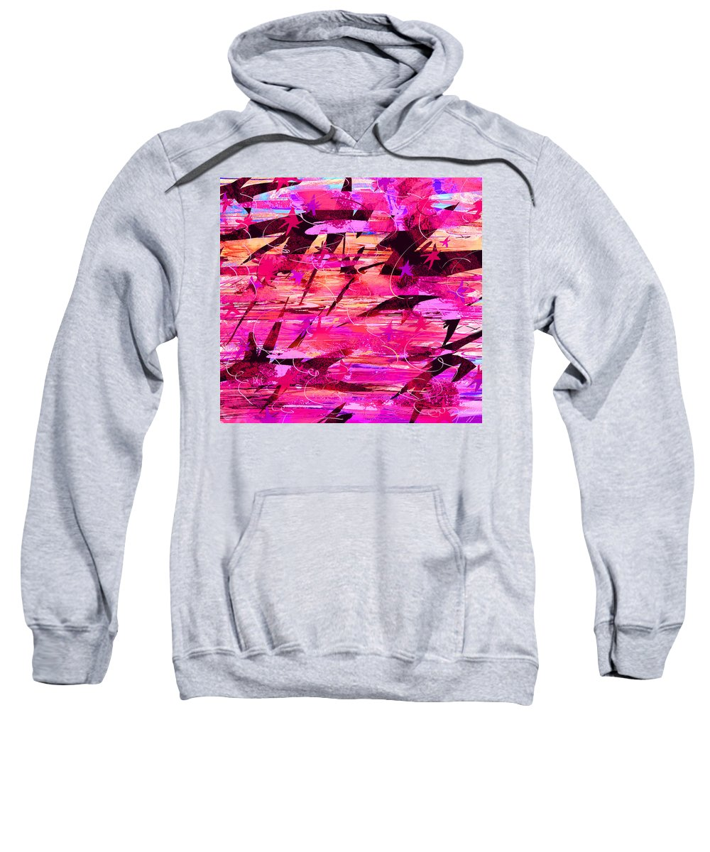 Abstract Sweatshirt featuring the digital art Sunrise by Rachel Christine Nowicki