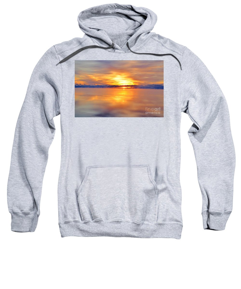 Lake Huron Sweatshirt featuring the photograph Sunrise Reflections by Nature's Journey Photography