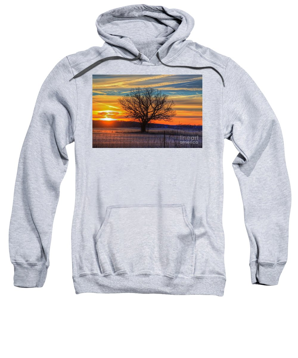 Sun Sweatshirt featuring the photograph Sunrise by Robert Pearson