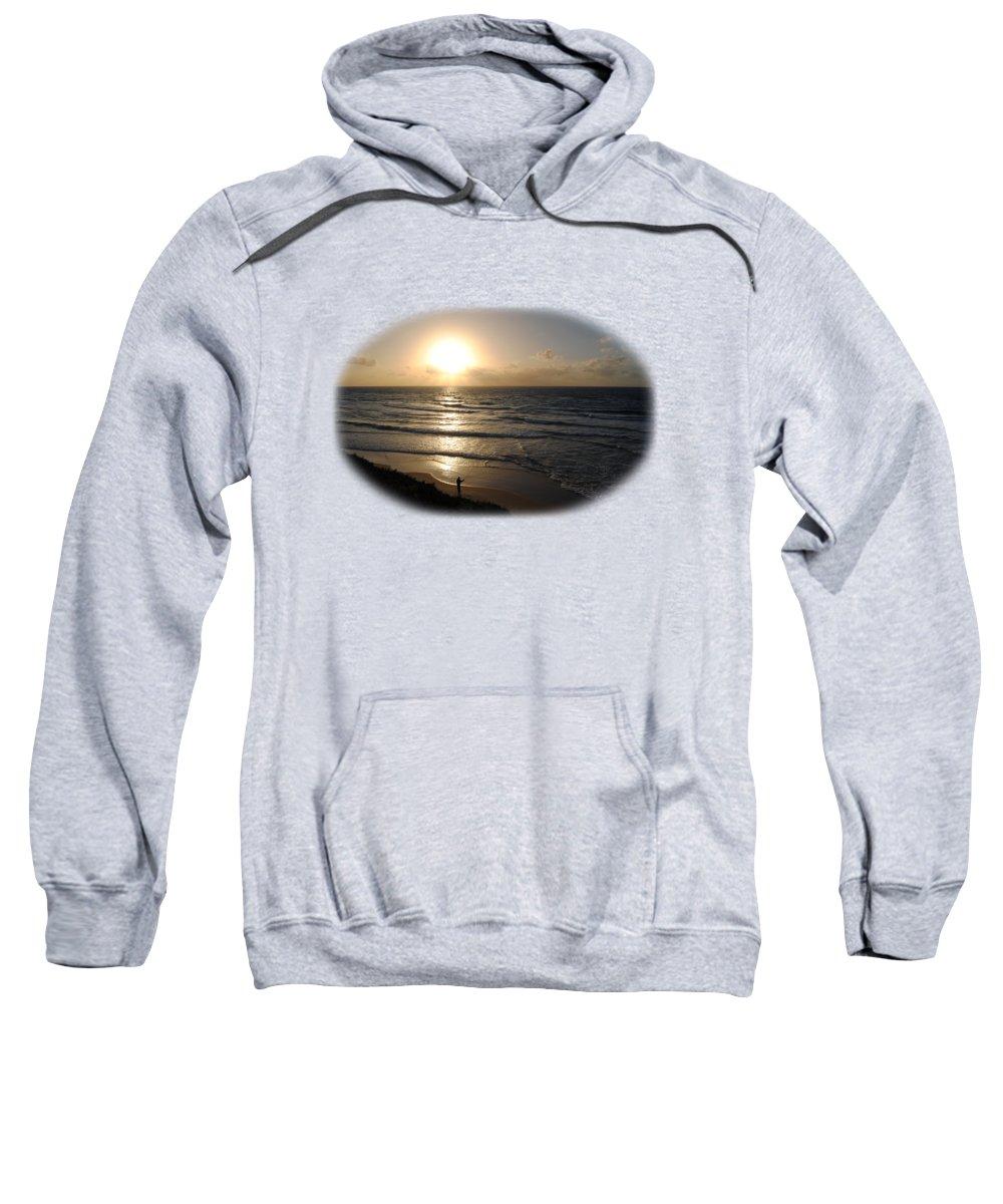 Beach T-shirt Sweatshirt featuring the photograph Sunset At Jaffa Beach T-shirt by Isam Awad