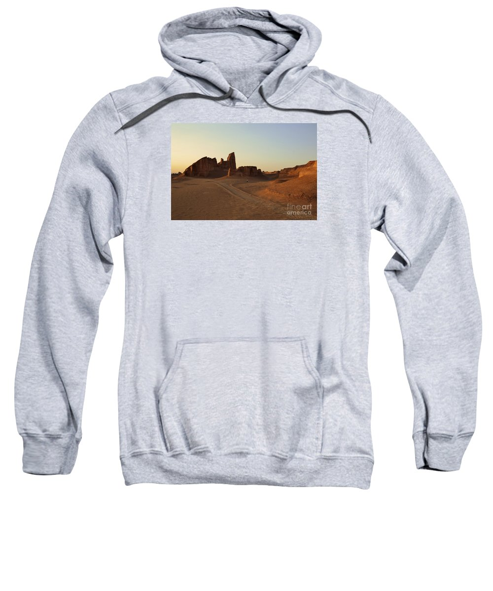 Kaluts Sweatshirt featuring the photograph Sunset At Kaluts Desert by Rossano Ossi