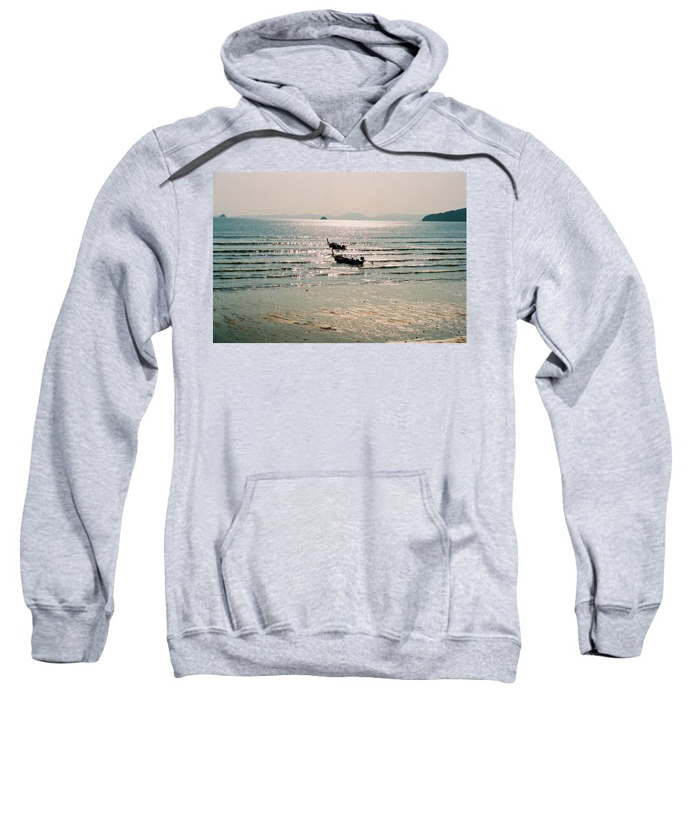 Sea Sweatshirt featuring the photograph Sunset At Krabi by Mary Rogers