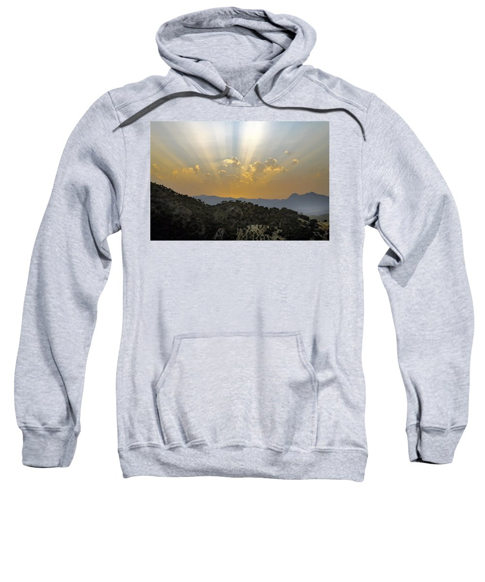 Sunrise Sweatshirt featuring the photograph Sunset At Pastelero Near Villanueva De La Concepcion Andalucia Spain by Mal Bray