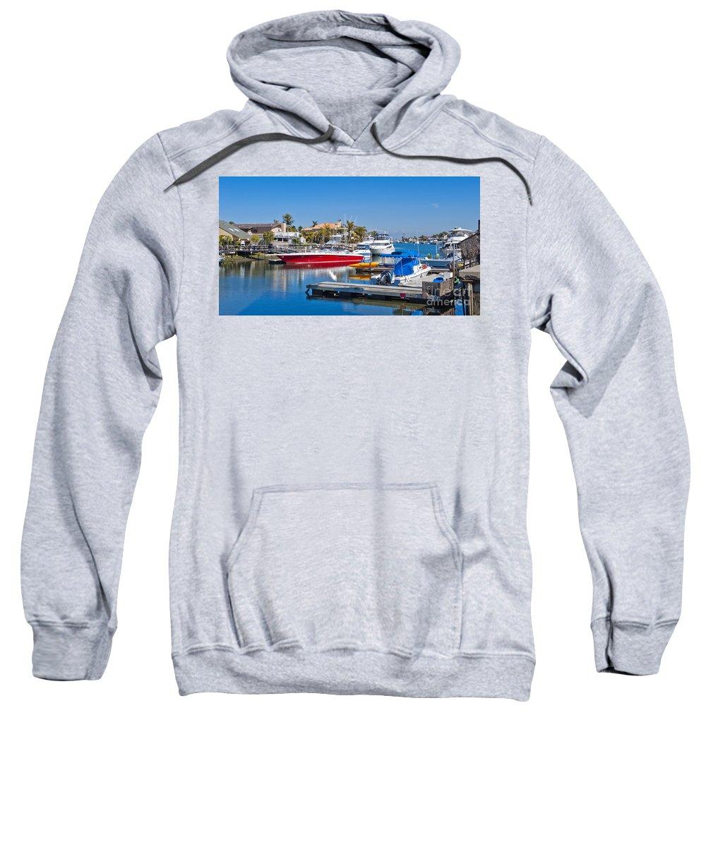 Sunset Beach Bolsa Bay Sweatshirt featuring the photograph Sunset Beach Bolsa Bay by David Zanzinger
