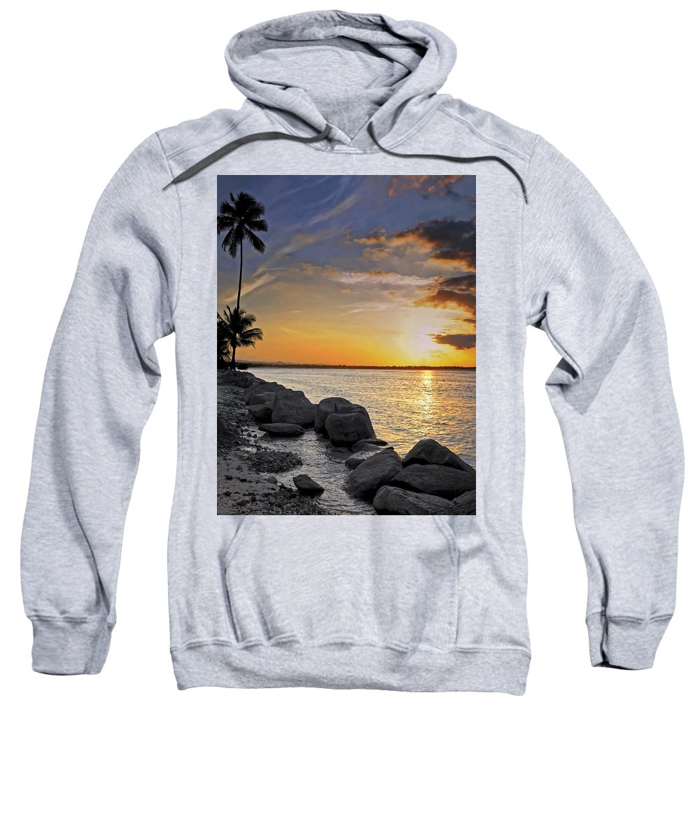 Caribbean Sweatshirt featuring the photograph Sunset Caribe by Stephen Anderson