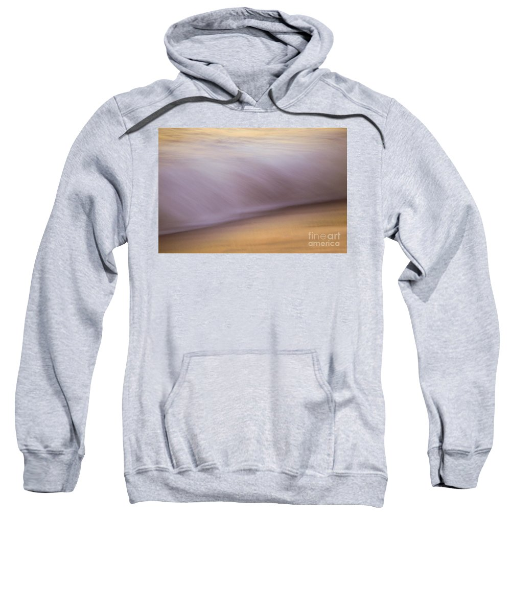 Waves Sweatshirt featuring the photograph Sunset Colors The Waves by Jeanne McGee