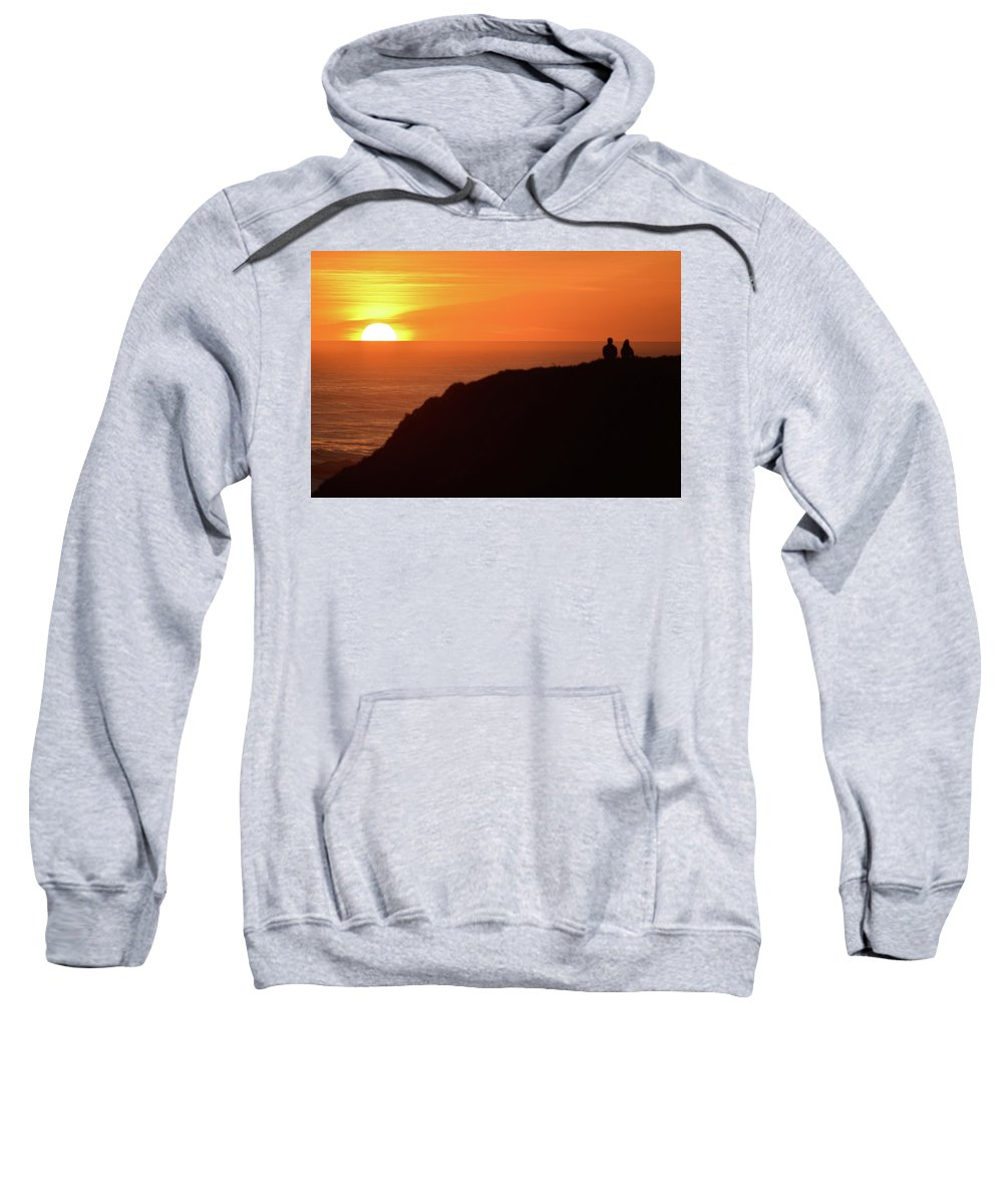 Sunset Sweatshirt featuring the photograph Sunset Couple by Surjanto Suradji