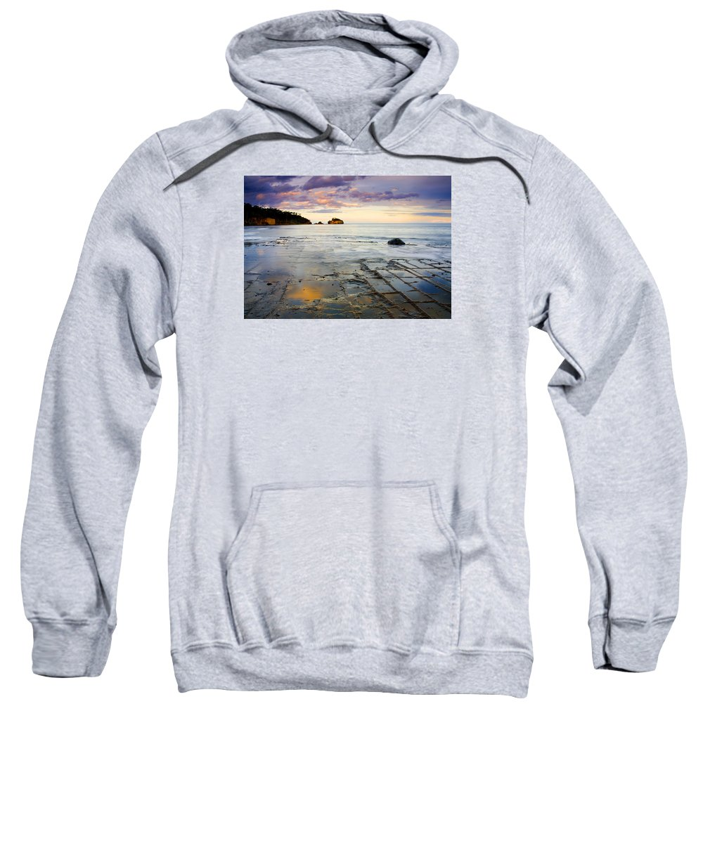 Tesselated Pavement Sweatshirt featuring the photograph Sunset Grid by Mike Dawson