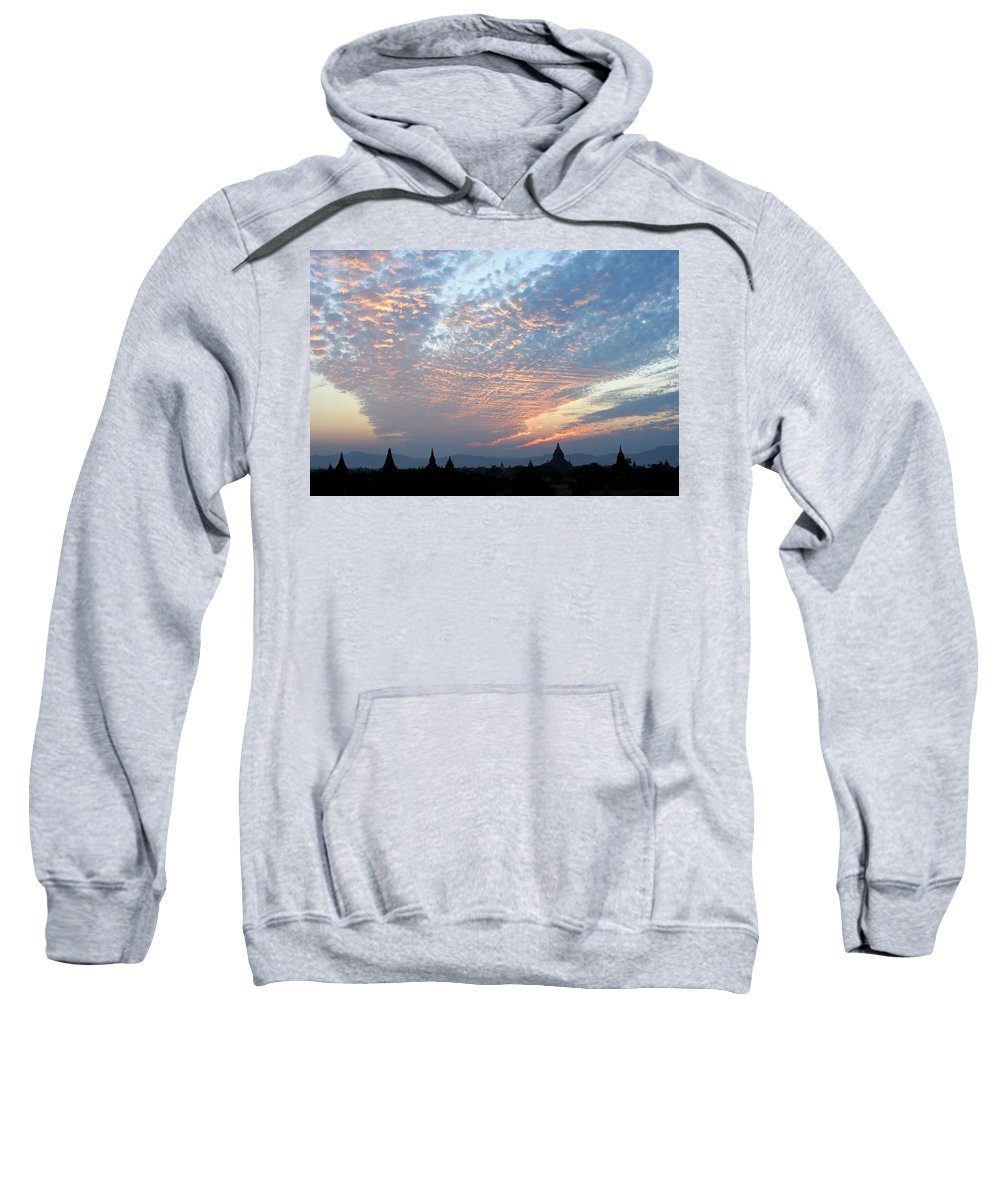 Asia Sweatshirt featuring the photograph Sunset In Bagan by Michele Burgess