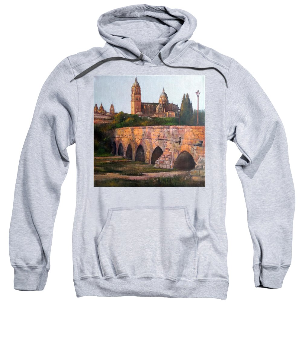 Sunset Sweatshirt featuring the painting Sunset in Salamanca by Tomas Castano