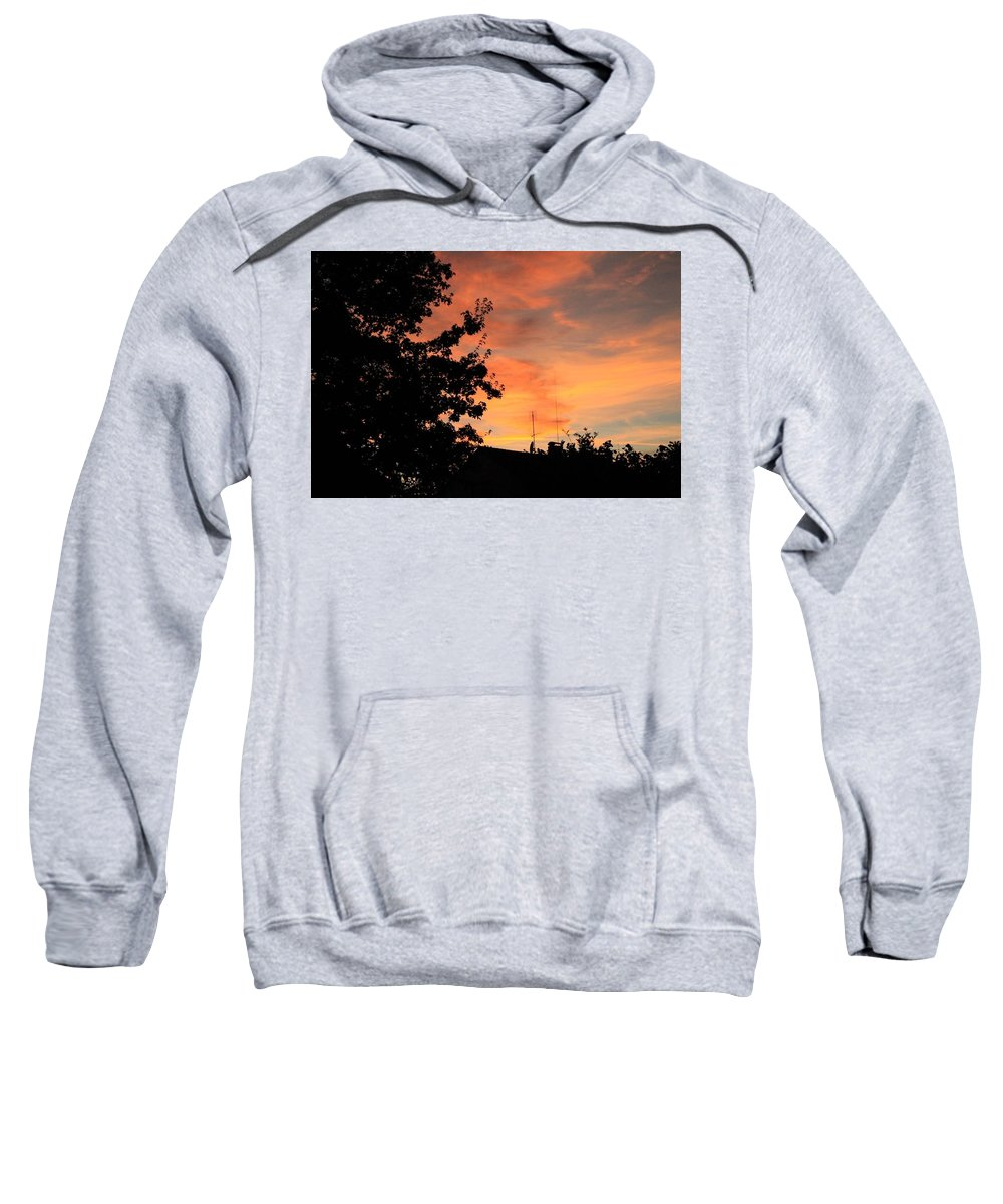 Sweatshirt featuring the photograph Sunset by Lara Webler