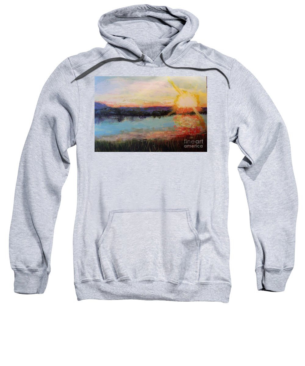Sunrise Sweatshirt featuring the painting Sunset by Marlene Book
