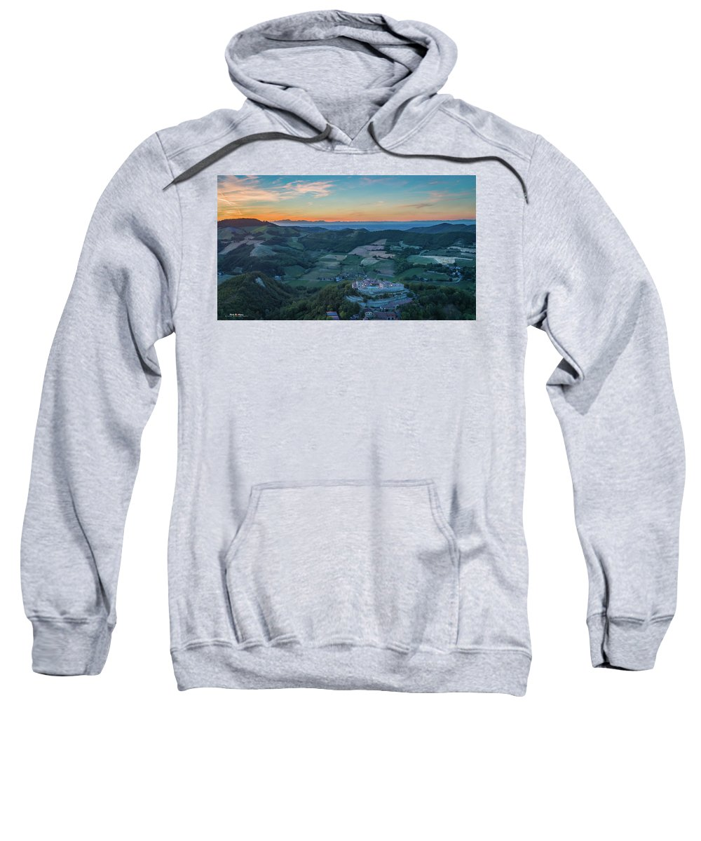 Dji Sweatshirt featuring the photograph Sunset On Hills by Nicola Maria Mietta