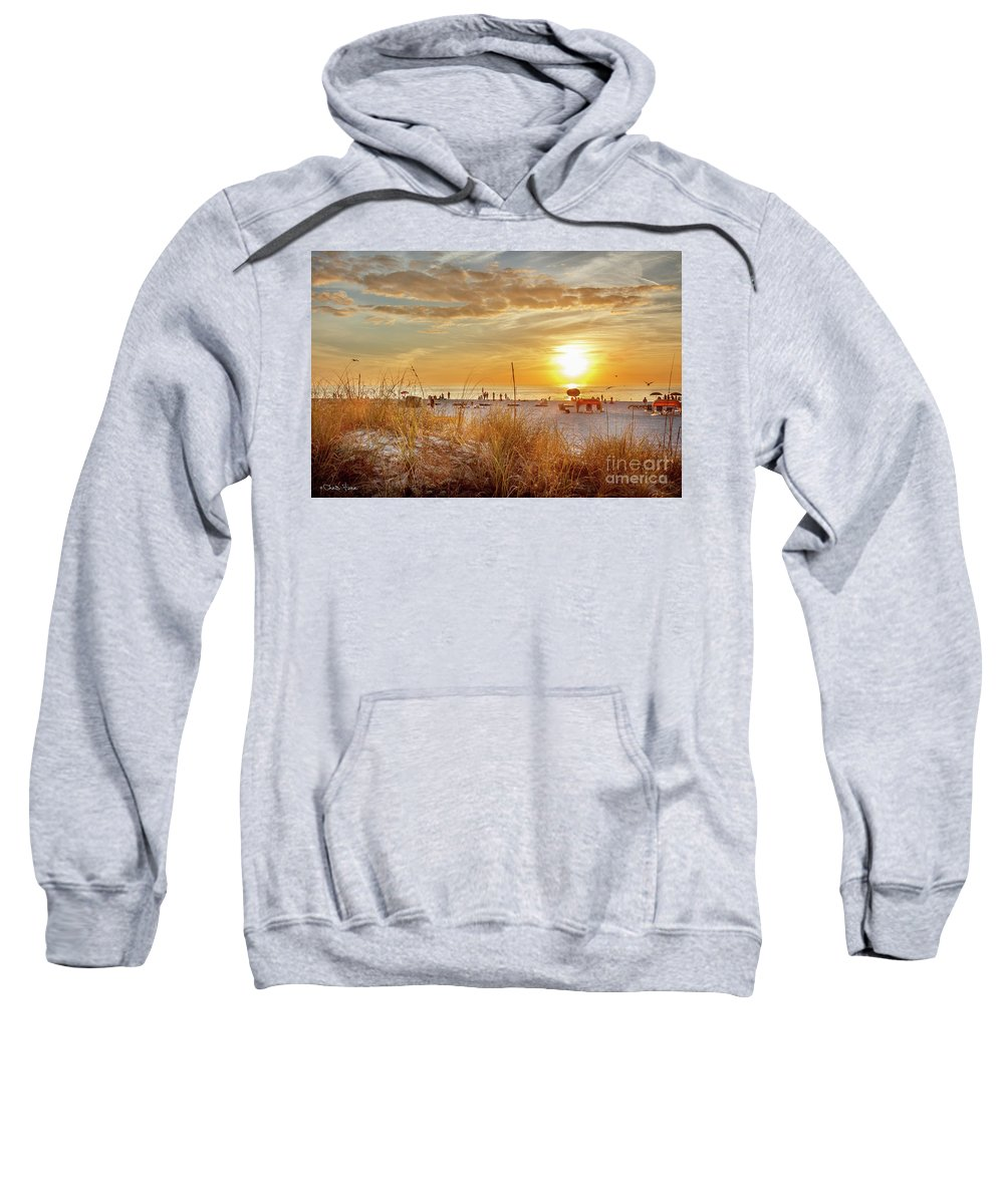 Sunset Sweatshirt featuring the photograph Sunset On St Pete by Chris Farr