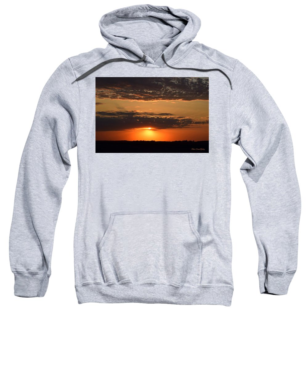Sunsets Are So Relaxing. Sweatshirt featuring the photograph Sunset On The Prairie by Kurt Keller