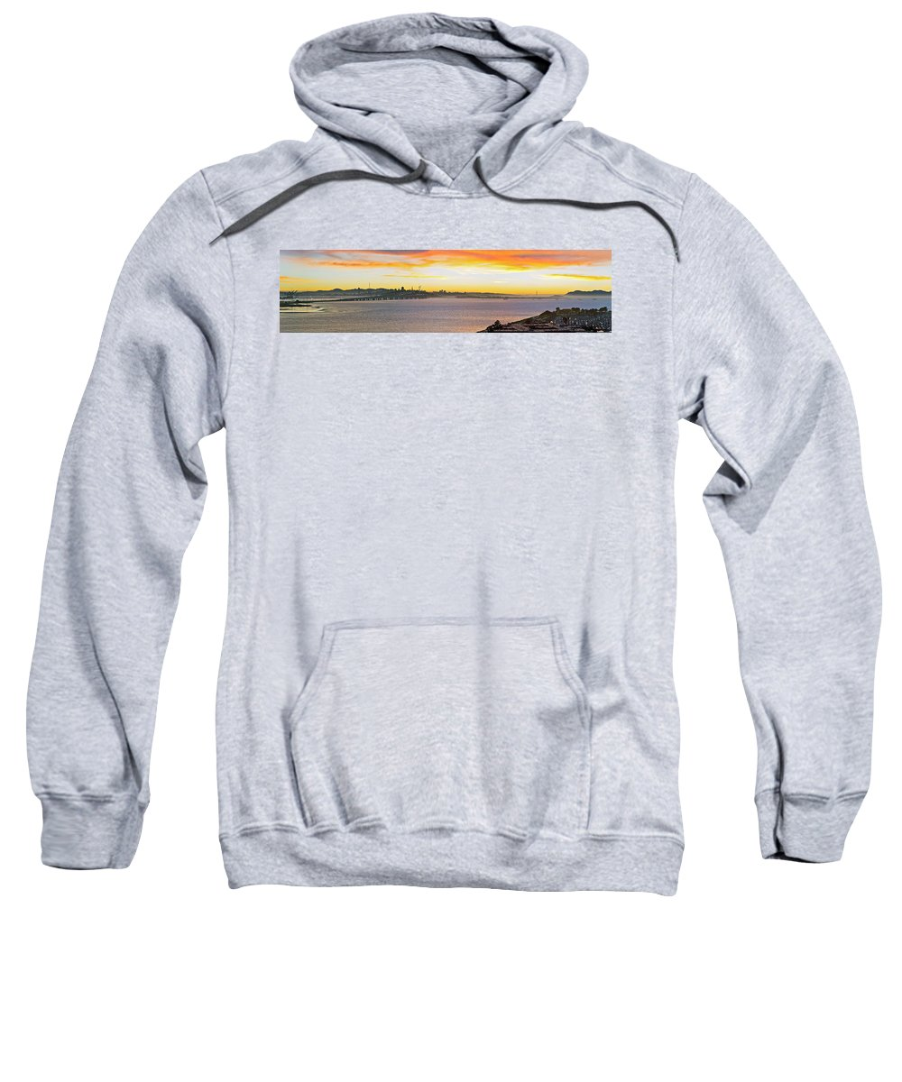 San Francisco Sweatshirt featuring the photograph Sunset Over The Bay by Kelley King