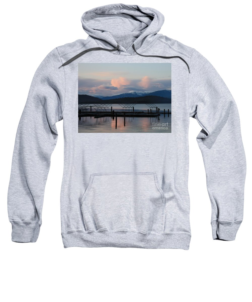 Priest Lake Sweatshirt featuring the photograph Sunset Reflecting Off Priest Lake by Carol Groenen