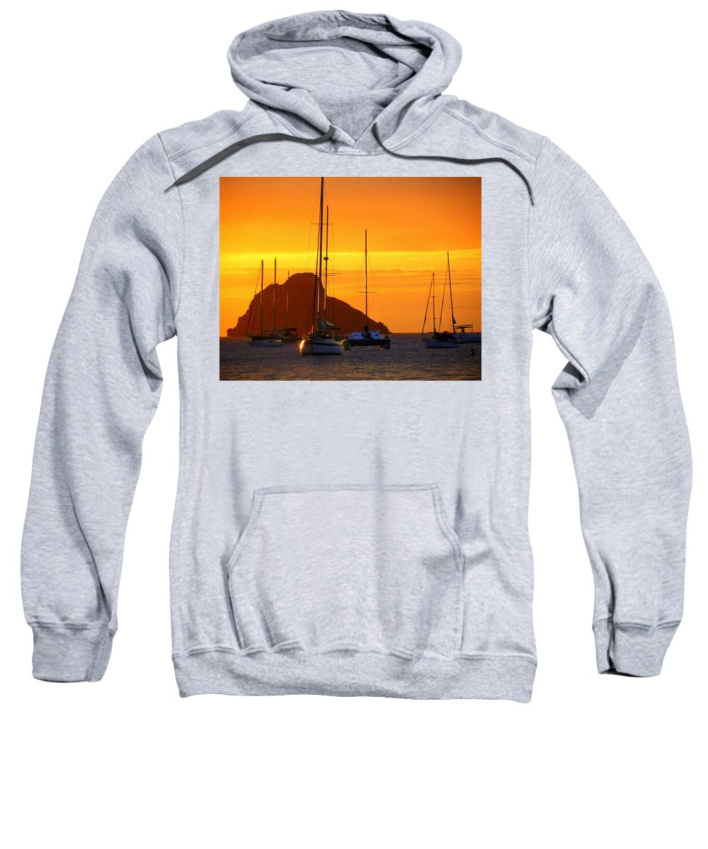 Sunsets Sweatshirt featuring the photograph Sunset Sails by Karen Wiles