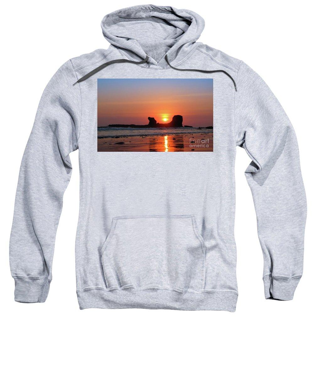 Sunset Sweatshirt featuring the photograph Sunset To Remeber by Marc Stuelken