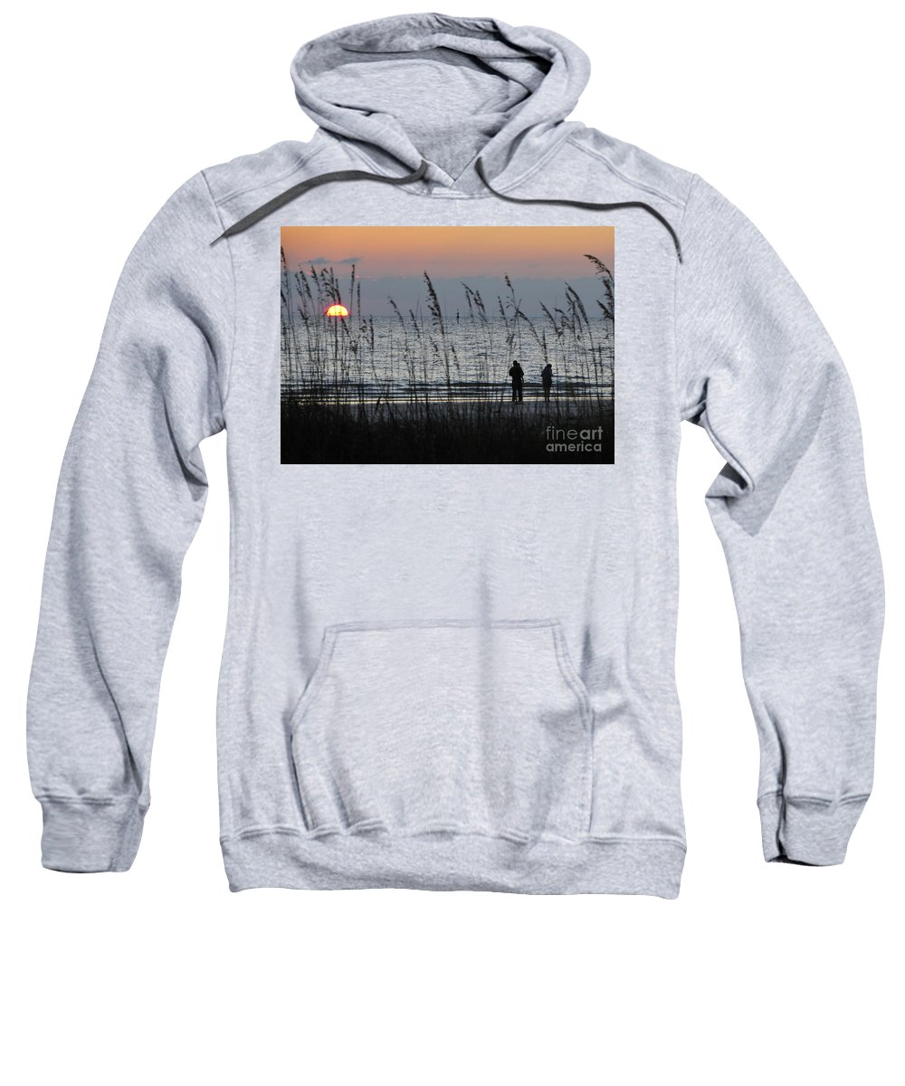 Sunset Sweatshirt featuring the photograph Sunset Watching by David Lee Thompson