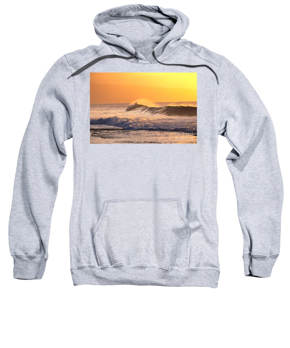 Beautiful Sweatshirt featuring the photograph Sunset Wave by Vince Cavataio - Printscapes