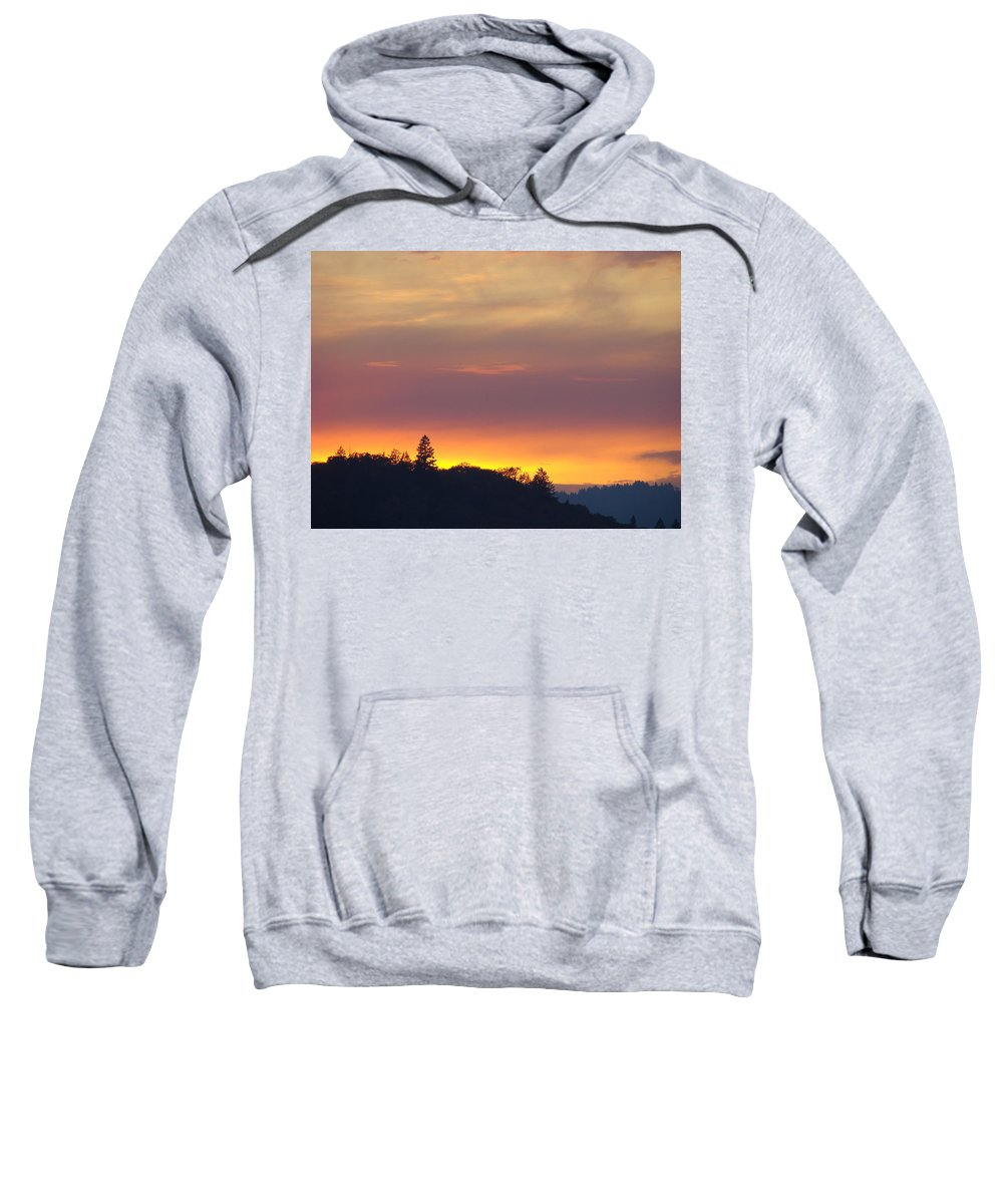 Sunset Sweatshirt featuring the photograph Sunset Yellow Orange Purple Sunset Giclee Art Prints Baslee Troutman by Baslee Troutman