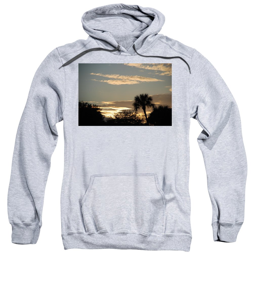Clouds Palm Trees Sweatshirt featuring the photograph Sunsets In The West by Rob Hans