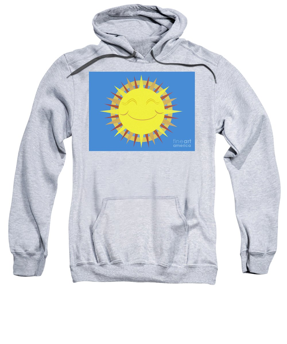 Nature Sweatshirt featuring the drawing Sunshine by Lucyna A M Green
