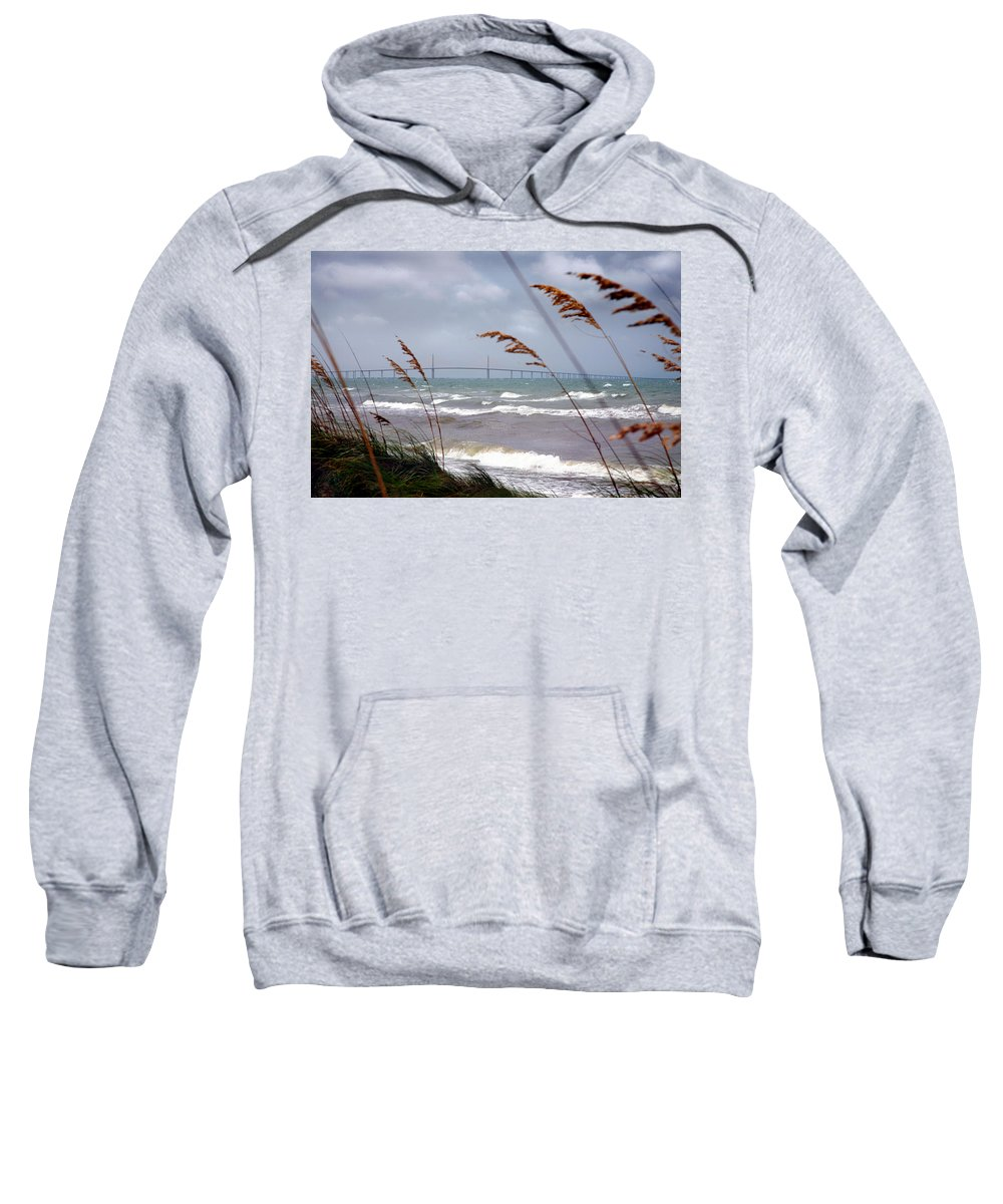 Sunshine Sweatshirt featuring the photograph Sunshine Skyway Bridge Viewed From Fort De Soto Park by Mal Bray