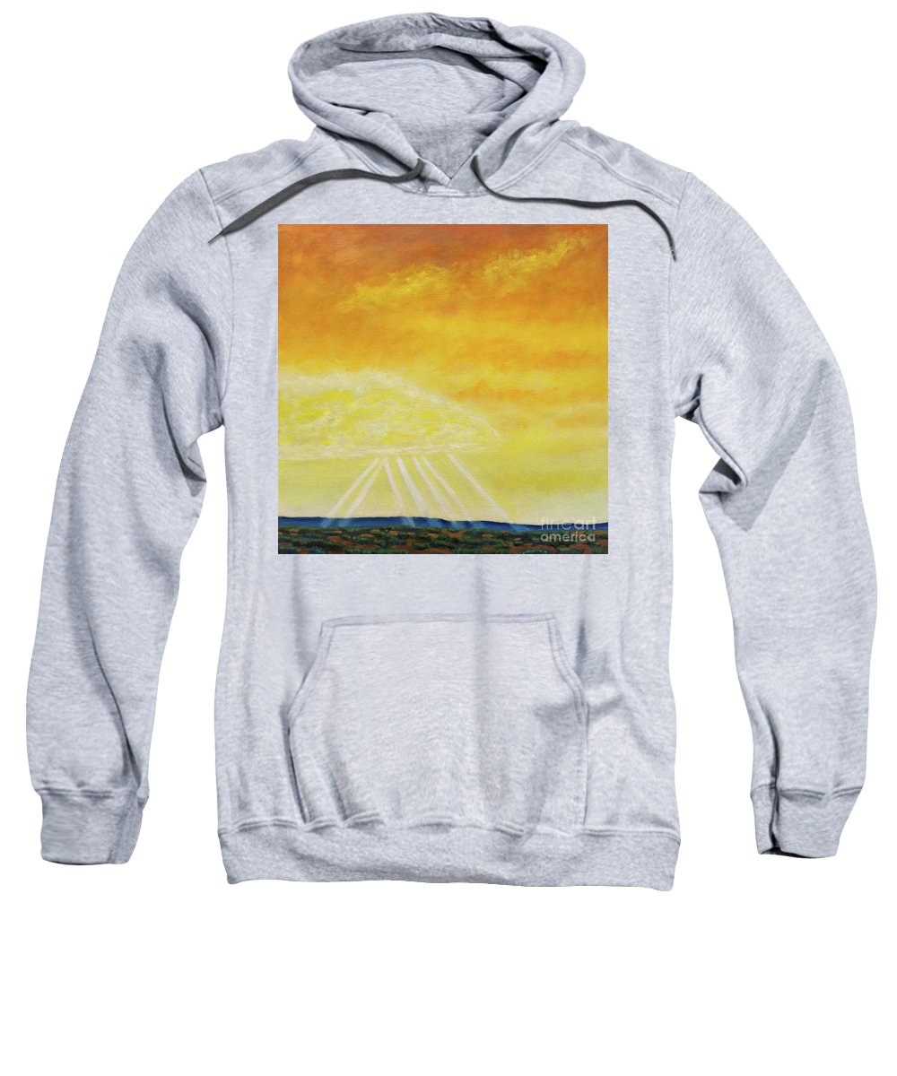 Landscape Sweatshirt featuring the painting Super Seven by Brian Commerford