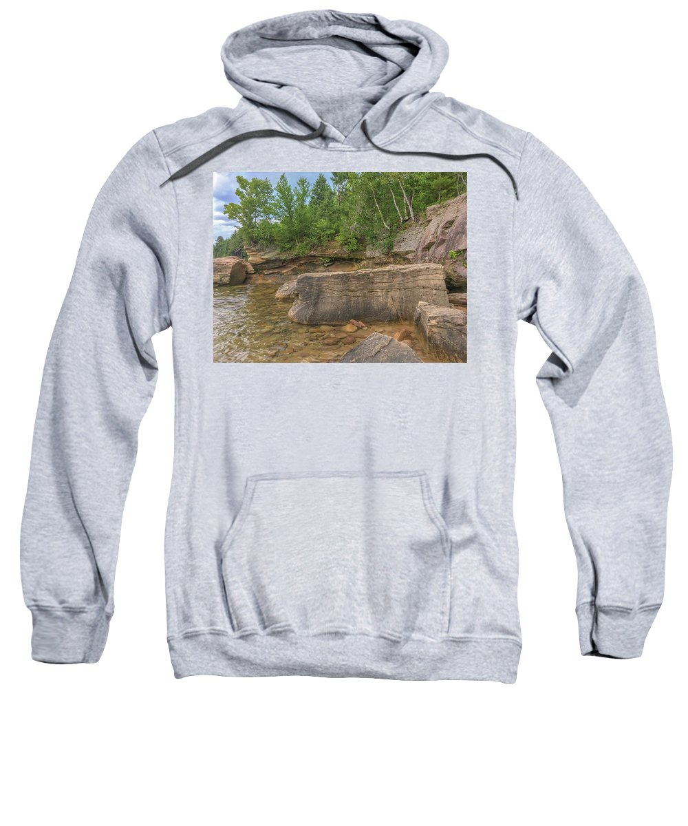 Marquette Sweatshirt featuring the digital art Superior by Bradley J Nelson