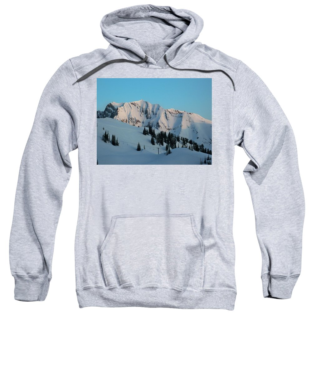 Ski Sweatshirt featuring the photograph Superior Sunrise by Michael Cuozzo