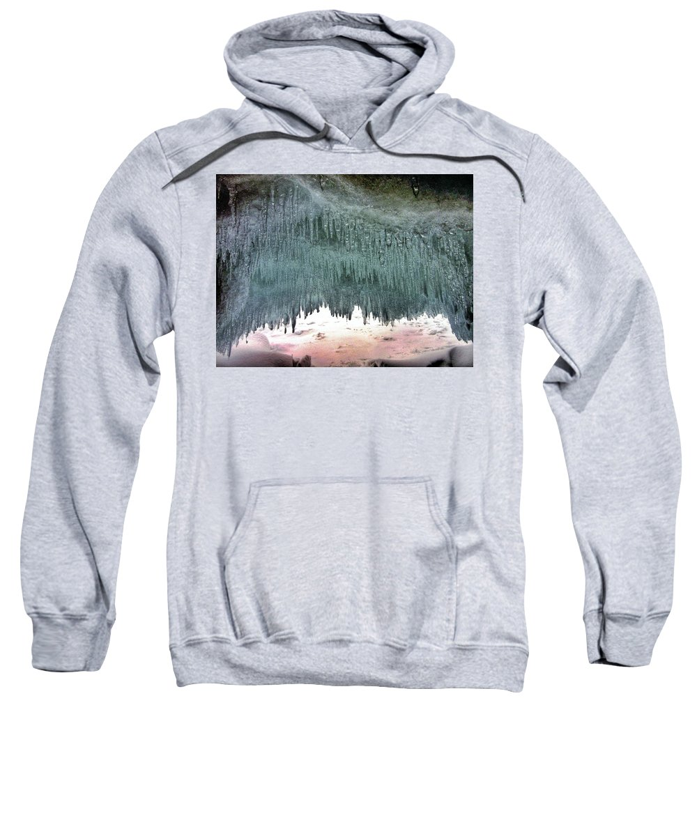 Ice Sweatshirt featuring the photograph Superior's Crystal Palace by Scott Wendt Tom Wierciak