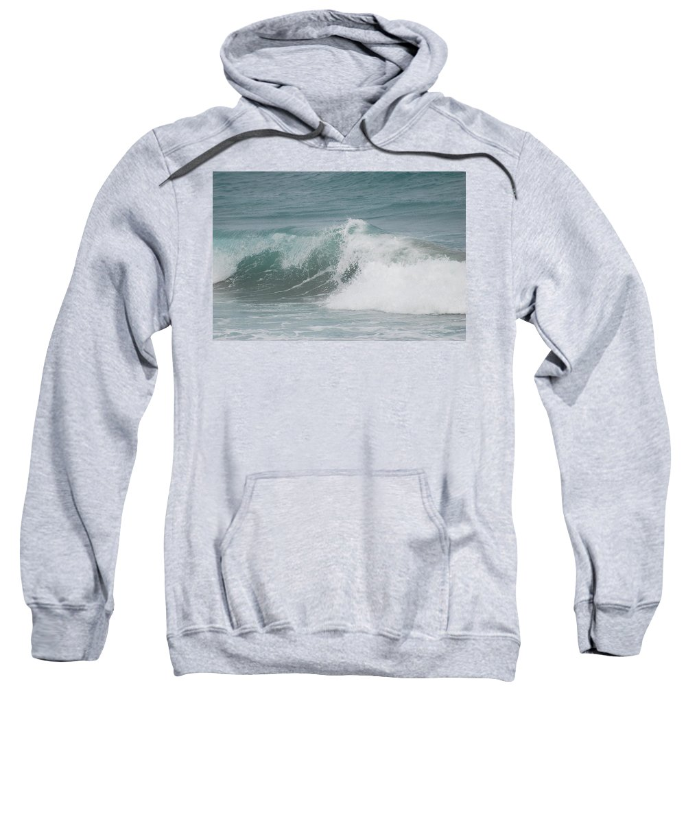 White Sweatshirt featuring the photograph Surf by Rob Hans