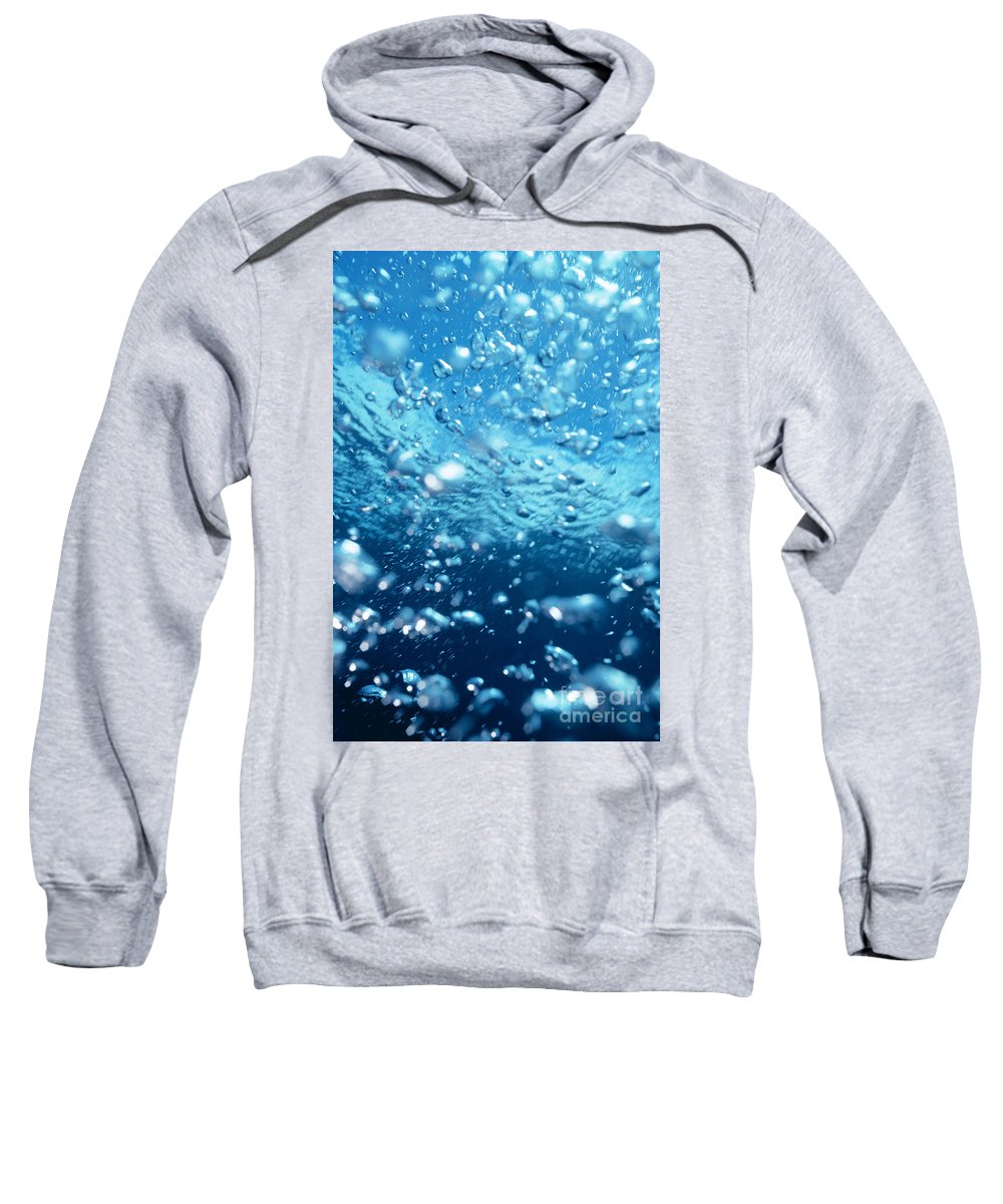 28-csm0337 Sweatshirt featuring the photograph Surface Bubbles by Mary Van de Ven - Printscapes