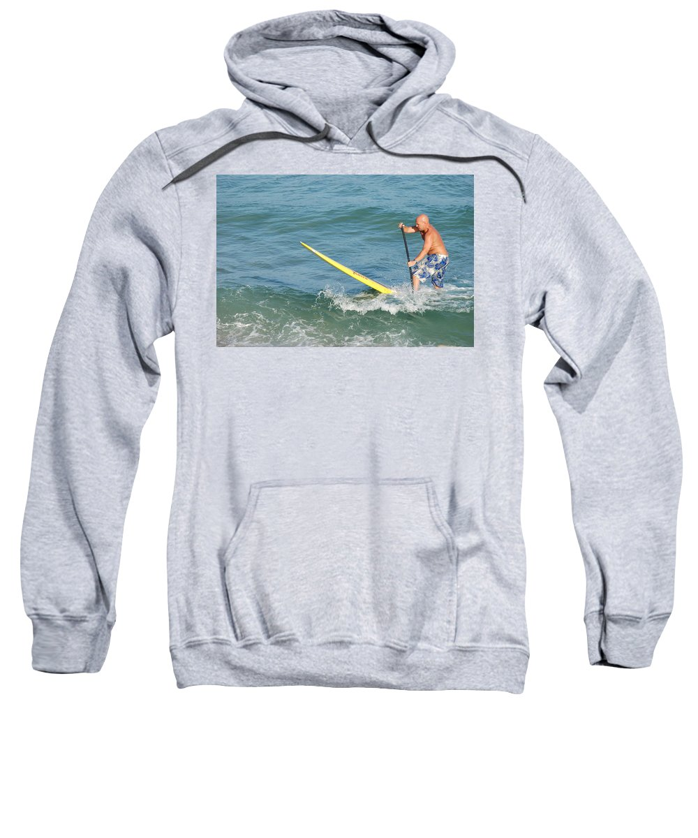 Sea Scape Sweatshirt featuring the photograph Surfer Dude by Rob Hans