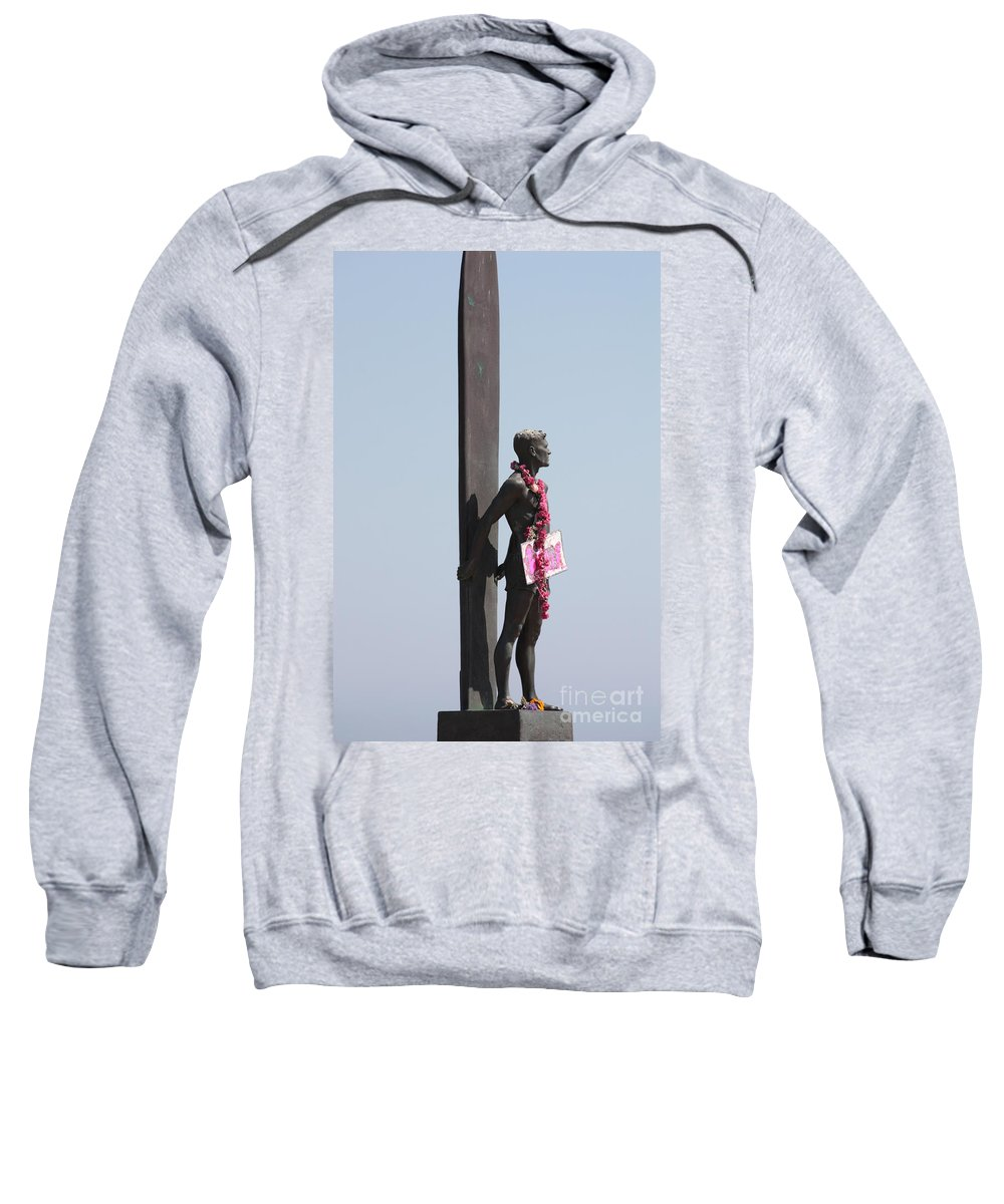 Surfer Statue Sweatshirt featuring the photograph Surfer Statue by Carol Groenen