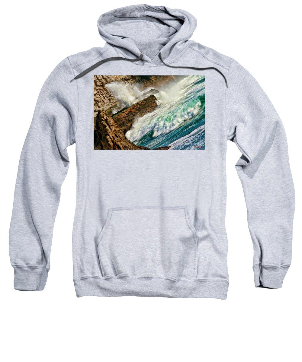 Beach Photos Sweatshirt featuring the photograph Surfers Nightmare by Blake Richards