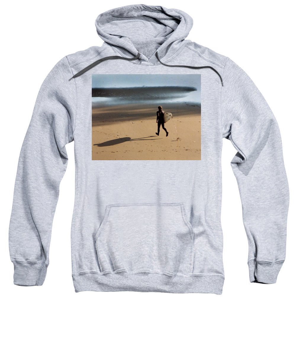 Surfing On Air Sweatshirt featuring the photograph Surfing On Air by Peter Piatt