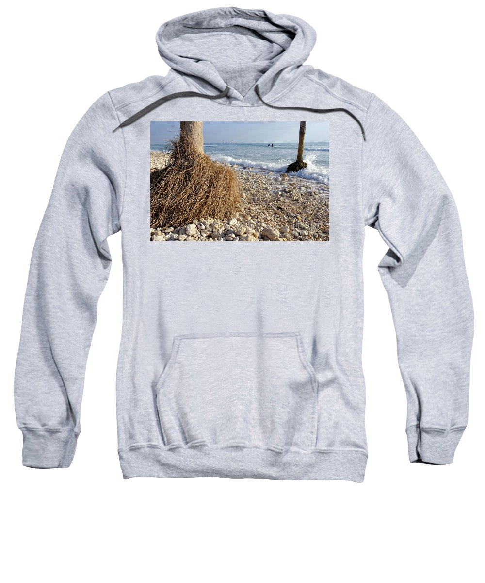 Surfing Sweatshirt featuring the photograph Surfing With Palms by David Lee Thompson