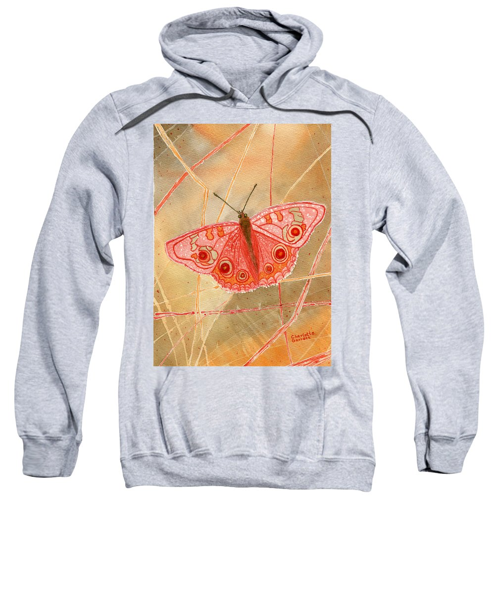 Butterfly Art Sweatshirt featuring the painting Survival Butterfly by Charlotte Garrett